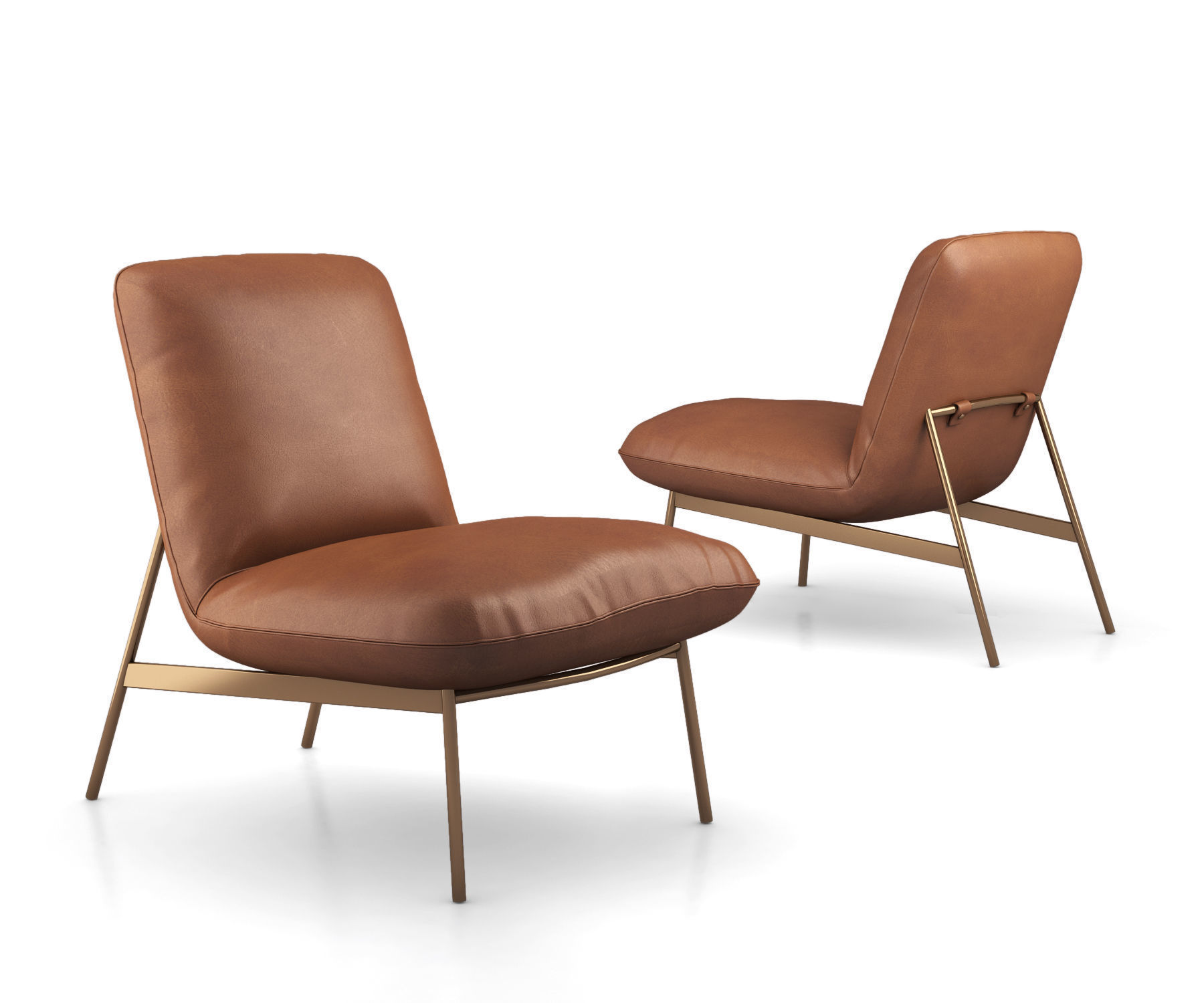 West Elm Metal And Leather Chairs Model Collection