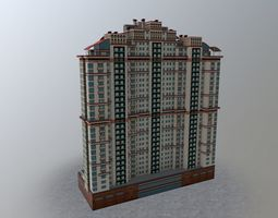 Moscow House Building38 3D asset
