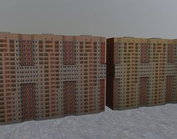 Moscow House 01 3D asset