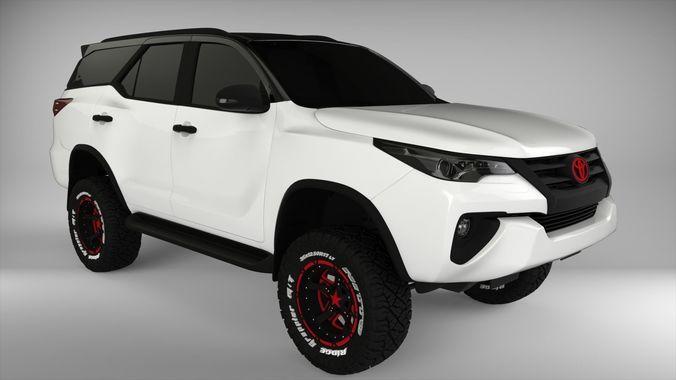 2018 Toyota Fortuner TRD 3D | CGTrader
