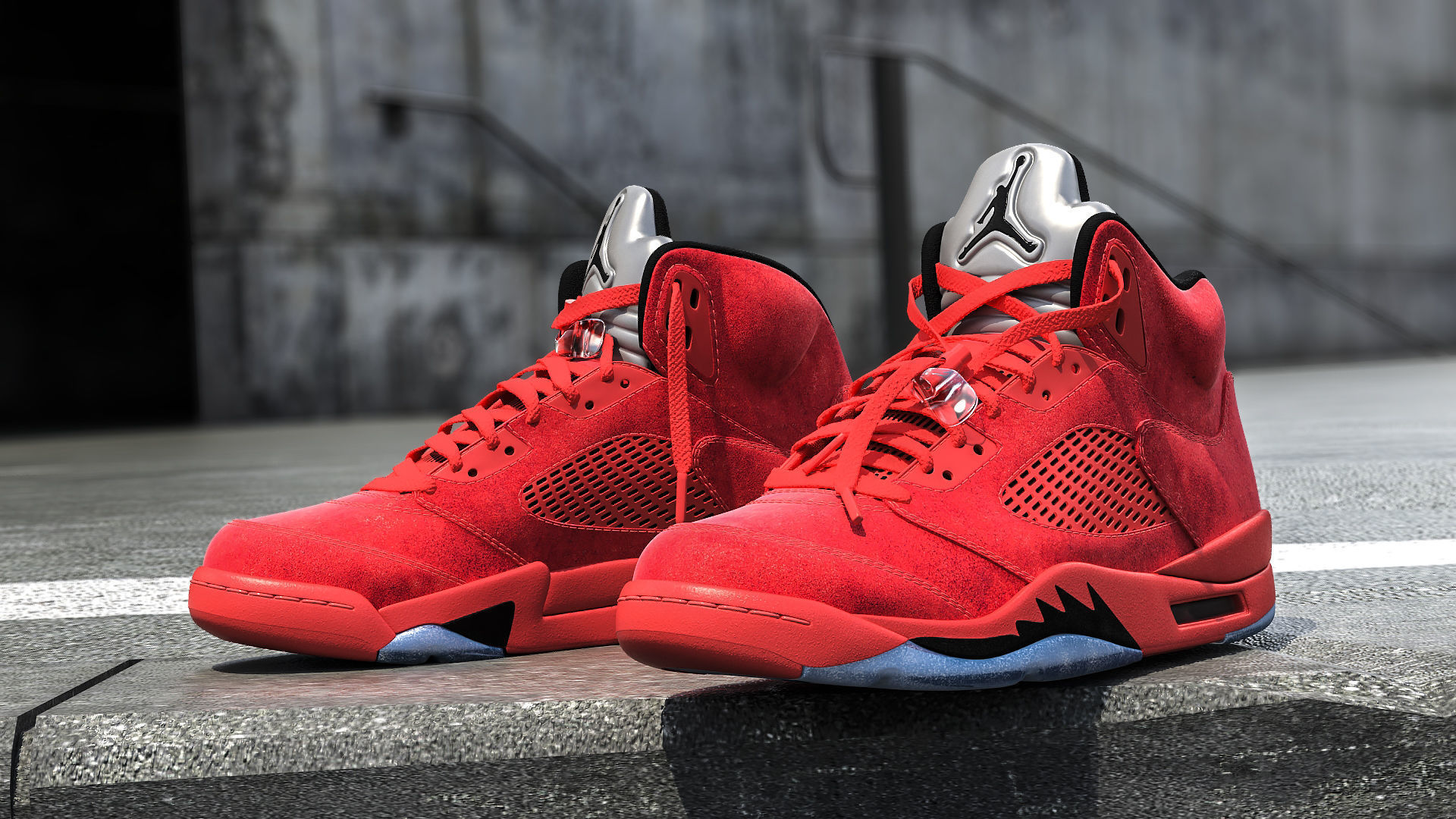 Air Jordan 5 Red Suede