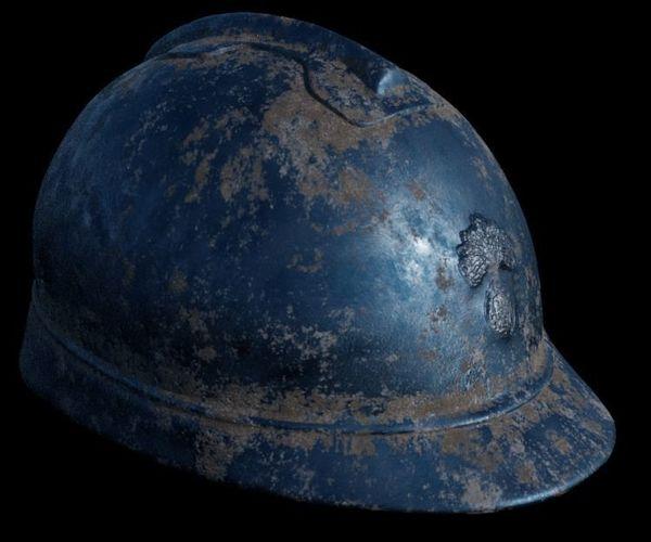 ww1 french helmet 3d model obj mtl 1