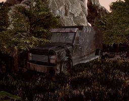 Old Rusty Truck 3D model
