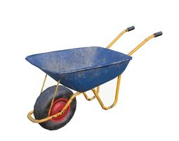 Wheelbarrow 3D model game-ready