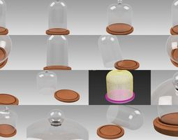 Dome glass collection 3D model
