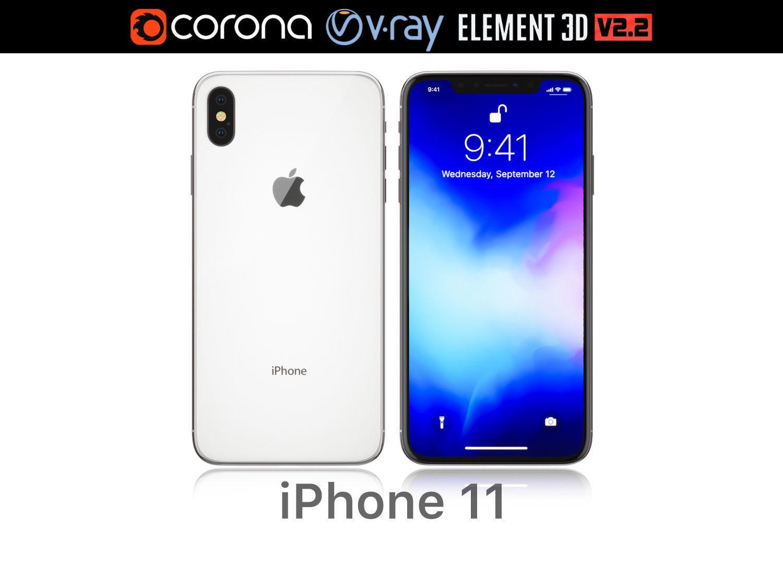 buy popular 6b9f9 27b61 Apple iPhone XS MAX white | 3D model