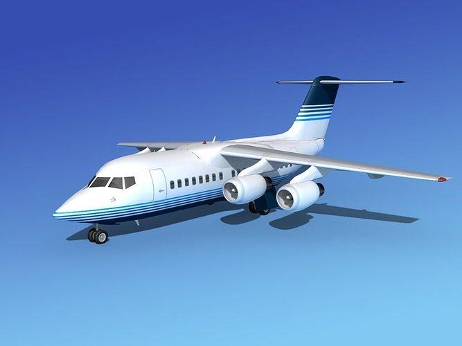 bae 146-100 corporate 2 3d model max obj mtl 3ds lwo lw lws dxf stl 1