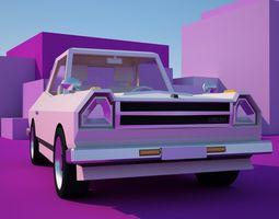 poly SAKURA LowPoly Car 3D model
