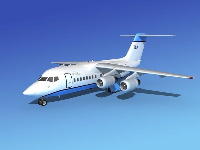 bae 146-100 rapidair 3d model max obj 3ds lwo lw lws dxf stl 1