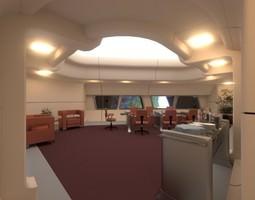 starship interior - conference room 3d model