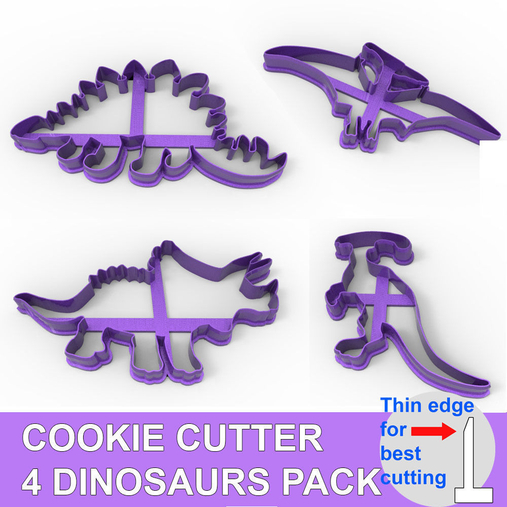 COOKIE CUTTER 4 DINOSAURS PACK