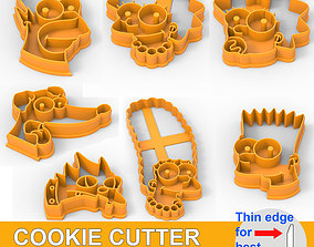 COOKIE CUTTER 7 SIMPSONS PACK 3D print model