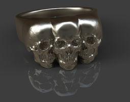 skull 3D print model Skull ring