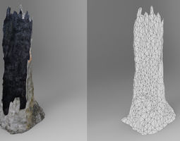 3D asset realtime Tree Trunk