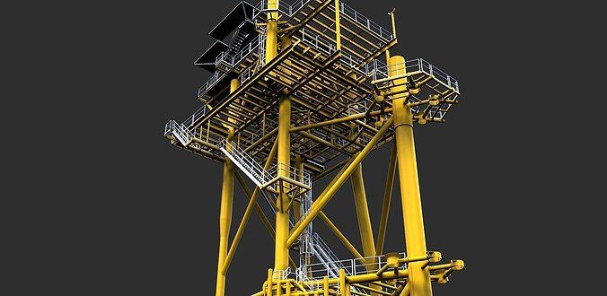 lean to platform 3d model dwg 1