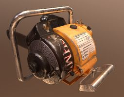 3D asset realtime Vintage saw