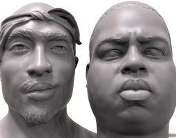 3D Rapper portrait pack Biggie 2Pac celebrity3dmodel