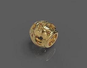 3D print model gold Heart