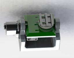 Biaxial angular rotation mechanism 3D model