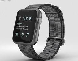 3D Apple Watch Series 2 42mm Space Gray Aluminum Case 2
