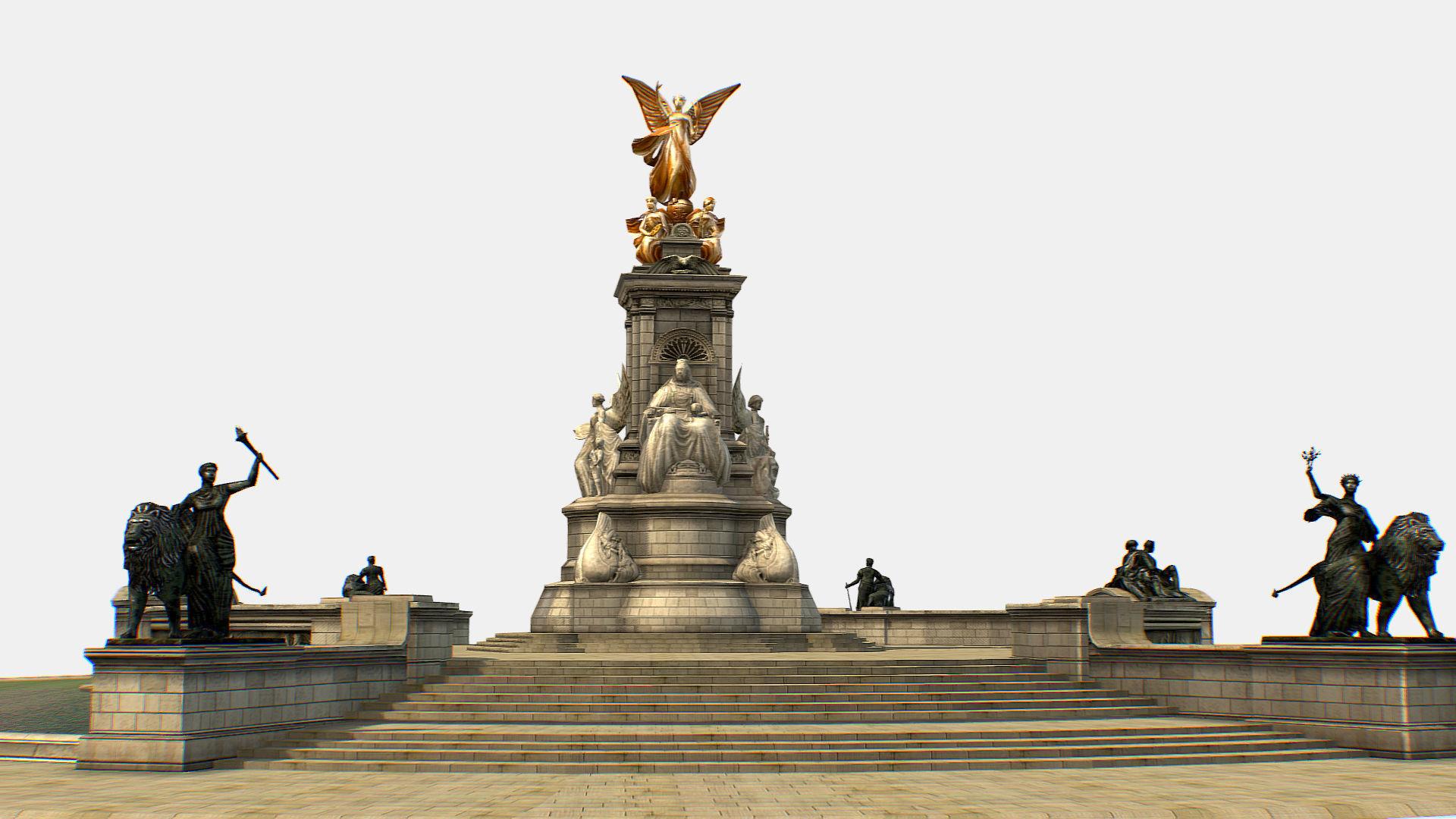 Queen Victoria Memorial Lowpoly 3D model