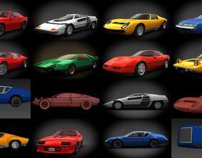 Classic sports cars 3D model