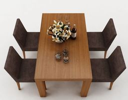3d model dining table 52