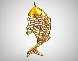Metal Fish Necklace 3D print model