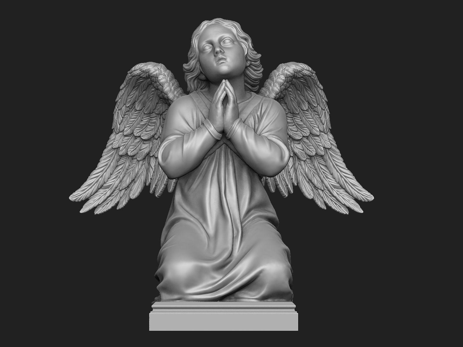 Kneeling Angel Statue