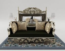 bedstead Bedroom set 3D