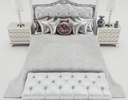 3D bed Bedroom set