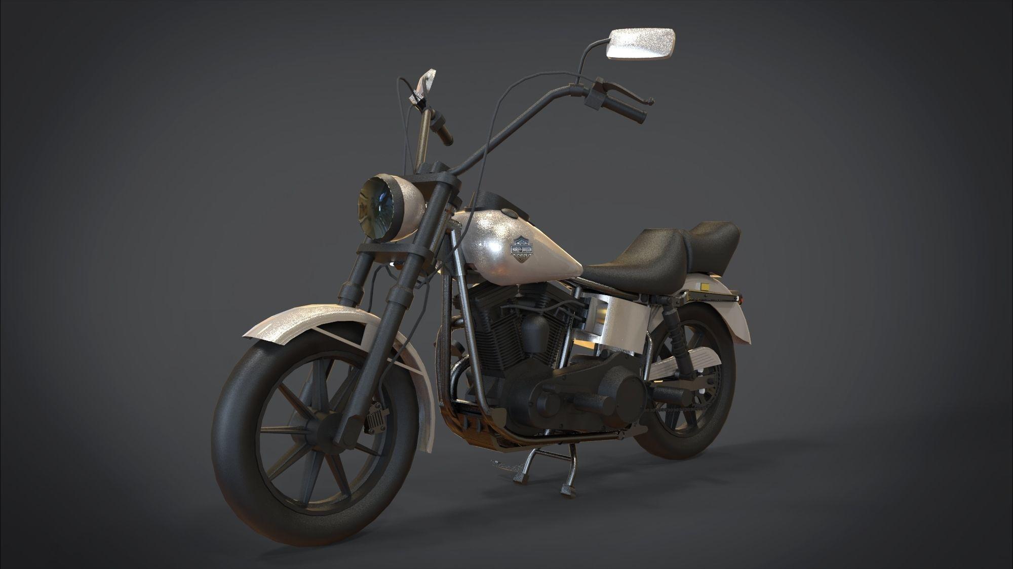 Harley-Davidson Motorcycle | 3D model