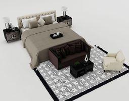 Bedroom set 3D model mattress