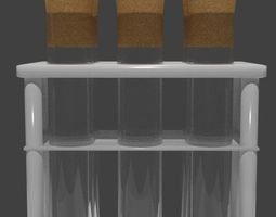 3D model Free PBR Test tubes in rack