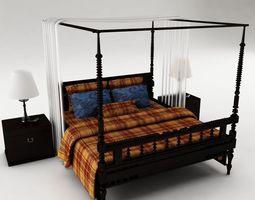 Bedroom set bedclothes 3D