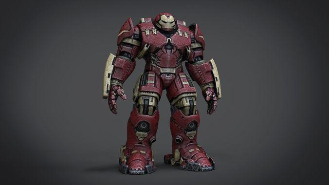 hulk buster 3d model obj mtl fbx stl blend x3d ply 1