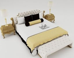 3D model Bedroom set simoons bedding