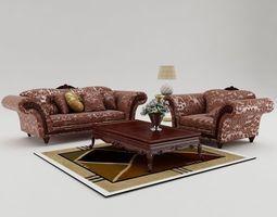 3D model living Sofa Set