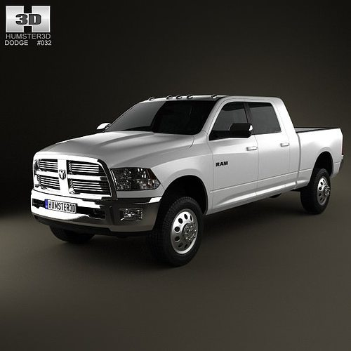 Dodge Ram 2500 Mega Cab Big Horn 6-foot 4-inch Box 2012 3D
