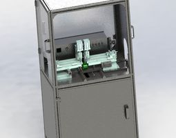 3D model E type spring pack assembly machine
