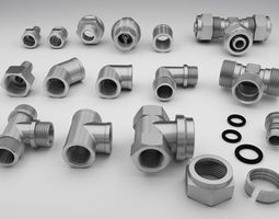 industrial fittings 3D model