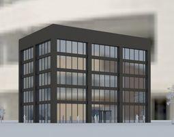 hospital 3D model Industrial Building