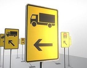3D asset Verkehrszeichen - Umleitungsschilder 2