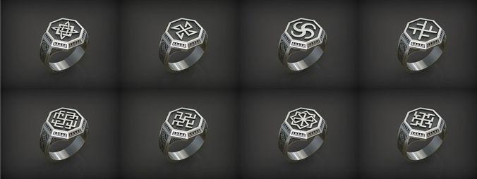 slavianic rings 3d model stl 1