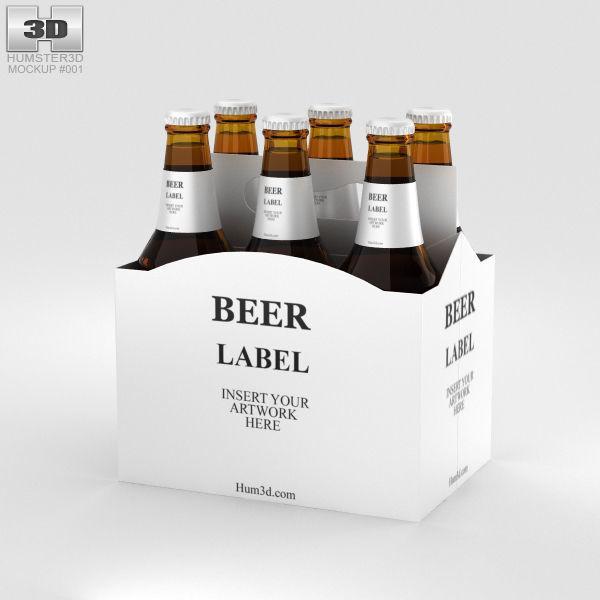 Paper Pack Beer Carrier Mockup Carrier 3d Cgtrader