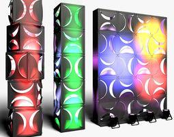 3D Stage Decor 18 ModularColumn Wall