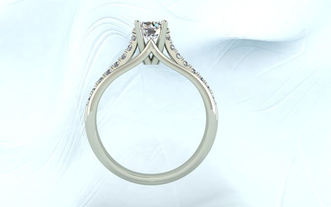 single stone ring 3d model stl 3dm 1