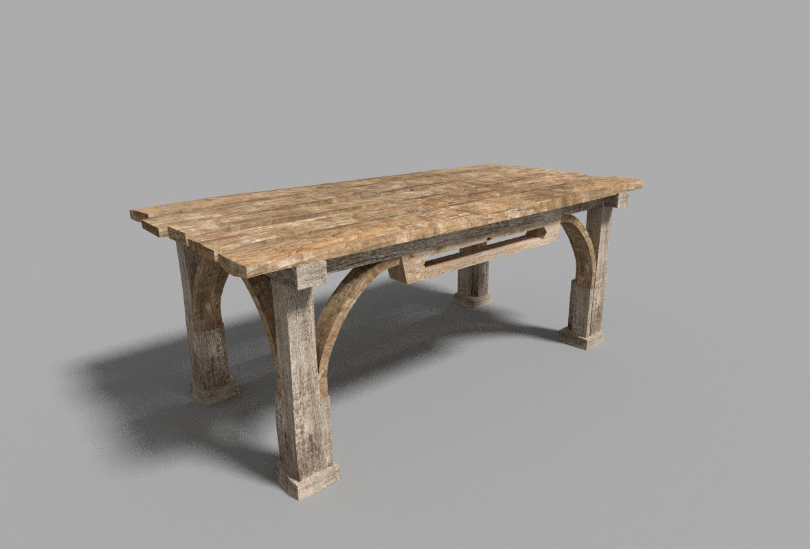 low poly medieval table
