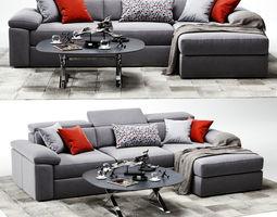 3D VAVICCI Diamante Corner Sofa