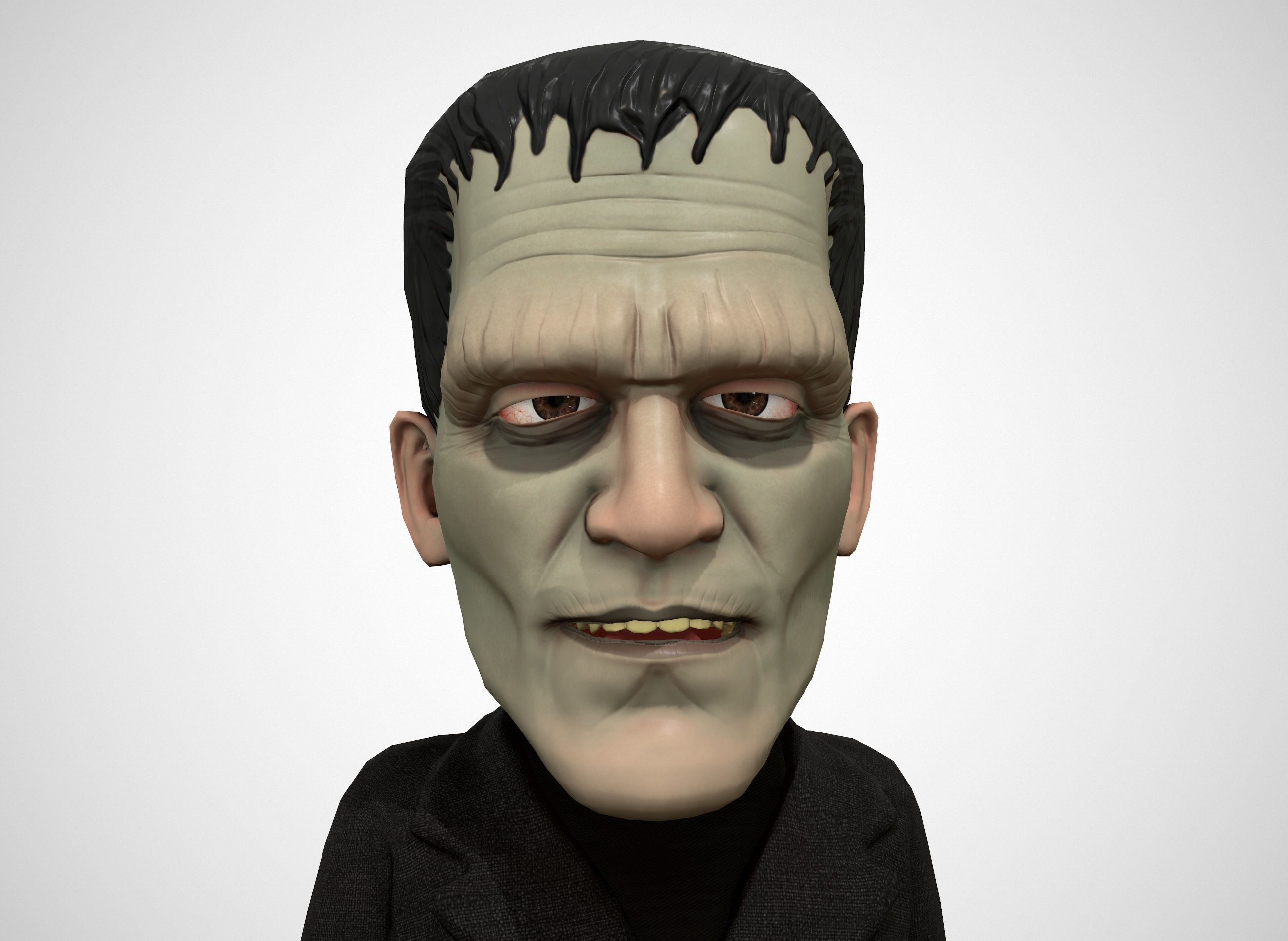 Cartoon Frankenstein rigged animated low poly
